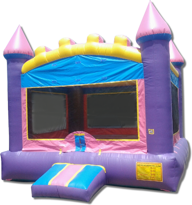 Pink & Purple Castle Bouncer